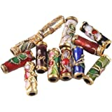 Colorful Flower Tube Enamel Cloisonne Beads Fit Jewelry Making (pack of 50)