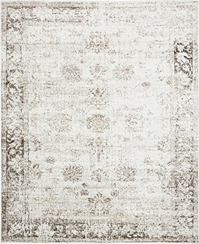 Beige 8' x 10' FT Canterbury Rug Modern Traditional Vintage Inspired Overdyed Area (8' Runner Salmon)
