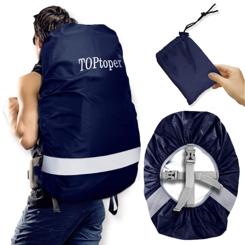 33ac5f804891 TOPtoper Reflective Waterproof Backpack Rain Cover