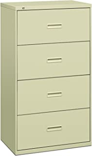 product image for HON Filing Cabinet - 400 Series Four-Drawer Lateral File Cabinet, 30w x 19-1/4d x 53-1/4h, Putty (434LL)