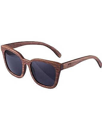 Amexi Sonnenbrille Polarisiert Bambus Sonnenbrille mit UV400 Schutz Damen, Herren, Sonnenbrille Für Herren, Sonnenbrille UV 400 Herren