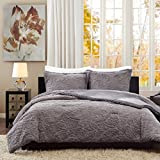 Madison Park Norfolk Twin/Twin Xl Size Bed Comforter Set - Grey, Paisley – 2 Pieces Bedding Sets – Plush Bedroom Comforters