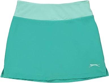 Slazenger - Falda de tenis para niña Azul agua 7-8 Años: Amazon.es ...
