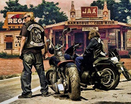 Cartoon World P1546 Sons Of Anarchy Tv Show 2013 Art Print 24X30 New Big Poster On Canvas   Waterproof Canvas Poster
