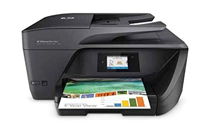 HP OfficeJet Pro 6960 - Impresora multifunción (tinta color, WiFi, fax, copiar, escanear, impresión a doble cara, 600 x 1200 ppp) color negro