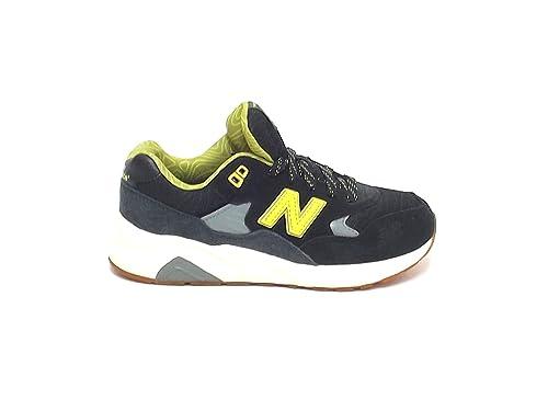 New Balance Bambino, KL 580, Sneakers camoscio Nylon Verde Giallo A6102