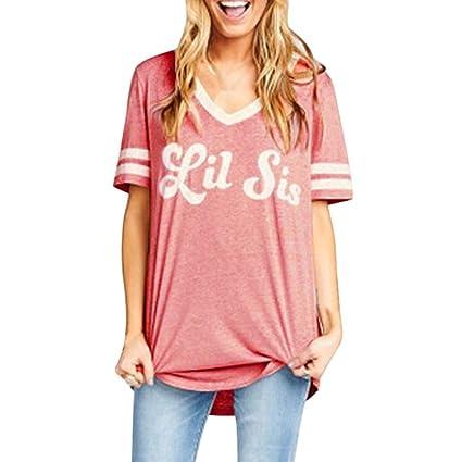 Camisetas Mujer Verano para Hermana❤️LILICAT® Familia a Juego Mejores Amigos Matching Camisetas Blusa