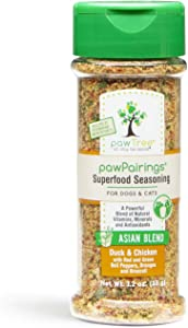 pawTree Asian Blend pawPairings Superfood Seasoning Healthy Food Topper & Flavor Enhancer for Any Dog and Cat Food. Spices Made with Freeze-Dried Raw Meat Protein, 8 Superfoods, Vitamins & Minerals