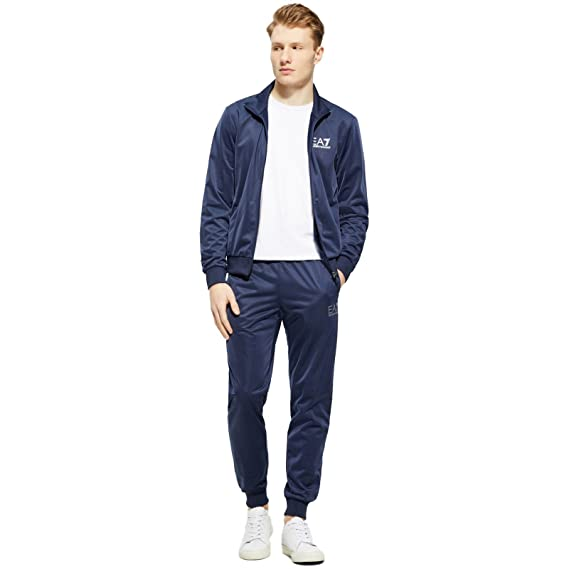 Emporio Armani Mens EA7 Mens Train Core ID Poly Tracksuit in Navy - 2XL 10a27597a23