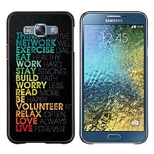 EJOOY---Cubierta de la caja de protección para la piel dura ** Samsung Galaxy E7 E700 ** --Inspiration