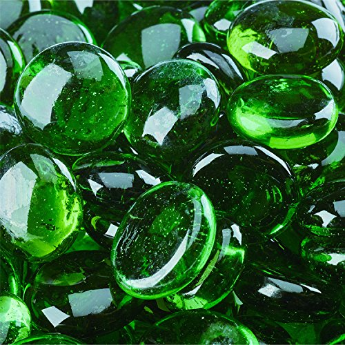 Pine Mountain - Fire Glass Beads for Indoor and Outdoor Fire Pits or Fireplaces   10 Pounds   3/4 Inch