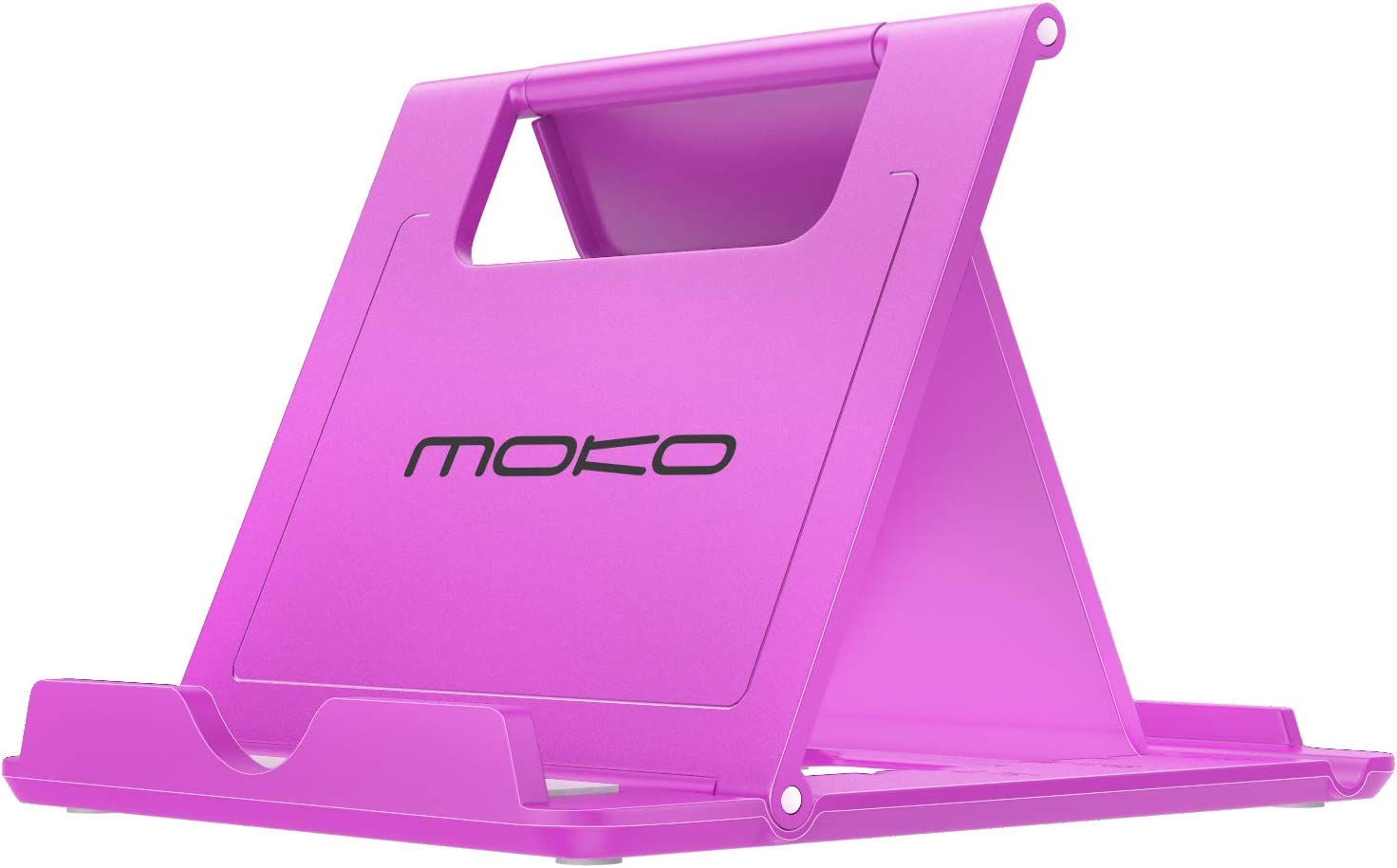 """MoKo Phone/Tablet Stand, Foldable Desktop Holder Fit with iPhone 11 Pro Max/11 Pro/11, iPhone Xs/Xs Max/Xr/X, iPhone SE 2020, iPad Pro 11 2020/10.2/Air 3/Mini 5, Galaxy S20 6.2"""", Purple"""