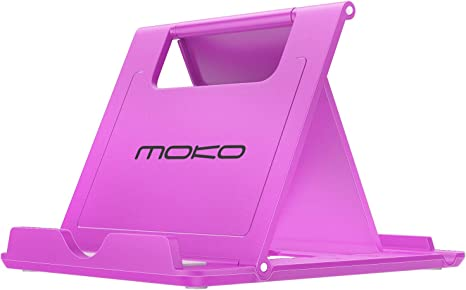"Image ofMoKo Smartphone/Tableta Soporte - Portátil Plegable Holder para tabletas(6-8""), para iPhone 11 Pro MAX/iPhone 11 Pro/iPhone 11, Galaxy Note 10 Plus 6.8""/Note 10 6.3""/Galaxy S20 6.2"" - Morado"