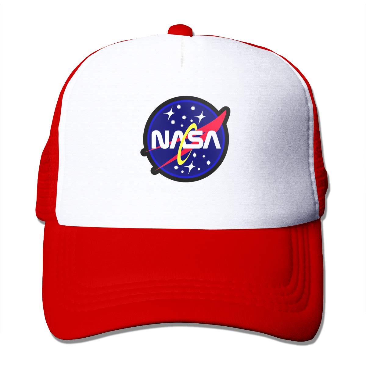 NASA Retro Logo Trucker Hats Toddler Mesh Black Baseball Caps Outdoors Climbing Sun Breathable Hat Black