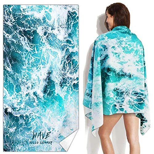 (Snailman Microfiber Beach Towel | Quick Drying Lightweight Body Towels | Shower Beach Blanket Sand Free Towel | Ultra Soft Super Water Absorbent Multifunctional Beach Throw Towel, 35 by 70 Inches)