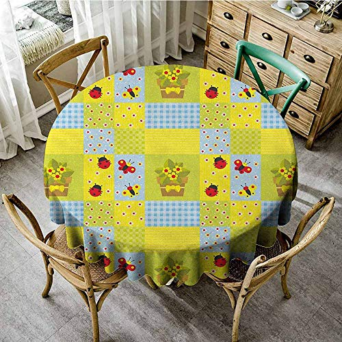 Rank-T Round Tablecloth Easter Plastic 47