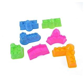BIEE Kit per Il Castello di Sabbia da 7 Pezzi, Muffa del Castello della Spiaggia, Bambini Cinetic Motion Sand Play (Colore Misto)