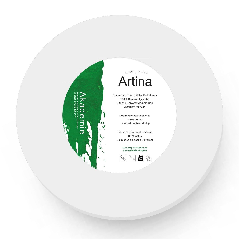 Lienzo blanco redondo con bastidor - 280g/m² - círculo - Ø 70 cm hot ...