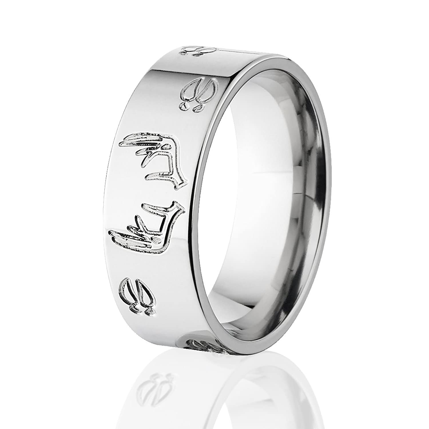 Amazon Deer Track Rings Animal Wedding Bands Hunting For Men Crafted In The USA Jewelry Source