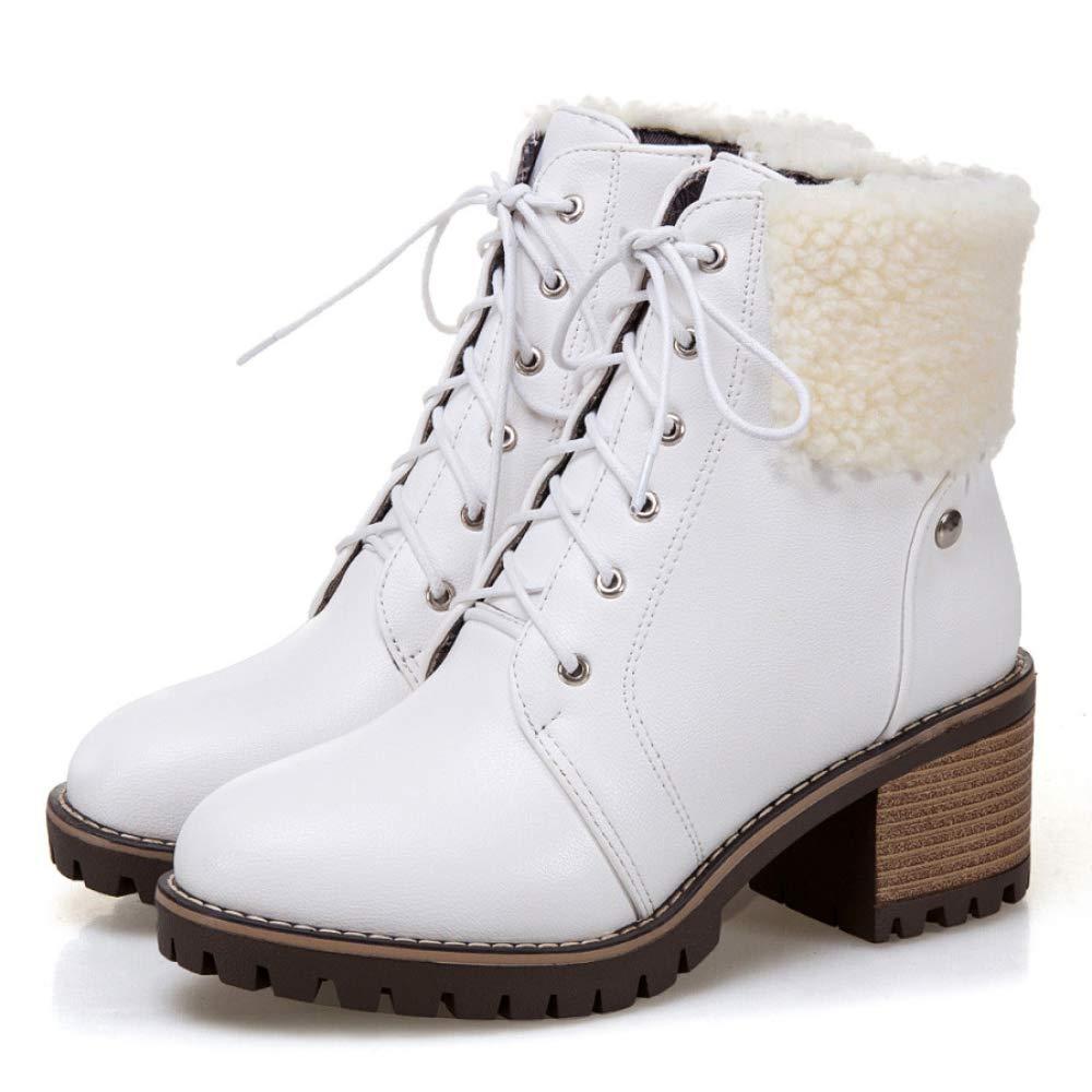 damen Low Block Heel Martin Stiefeletten Damen Lace Up PU PU PU Leder Party Größe Stiefelies Schuhe Größe 163e69