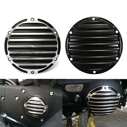 Forspero CNC Embrague Temporizador Tapa de sincronización para Harley Davidson Sportster Motocicleta - Negro: Amazon.es: Coche y moto