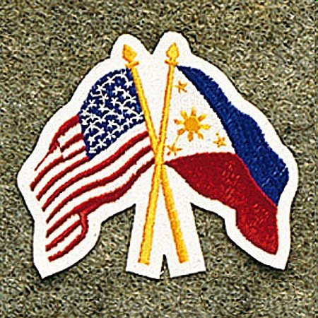(USA America / Philippine Flags Patch)