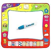 AveDistante Travel Magna Doodle para Niños, Doodle Mat con 4 Colores 80 x 60cm, Perfecto para Educacion Educativa y Regalo