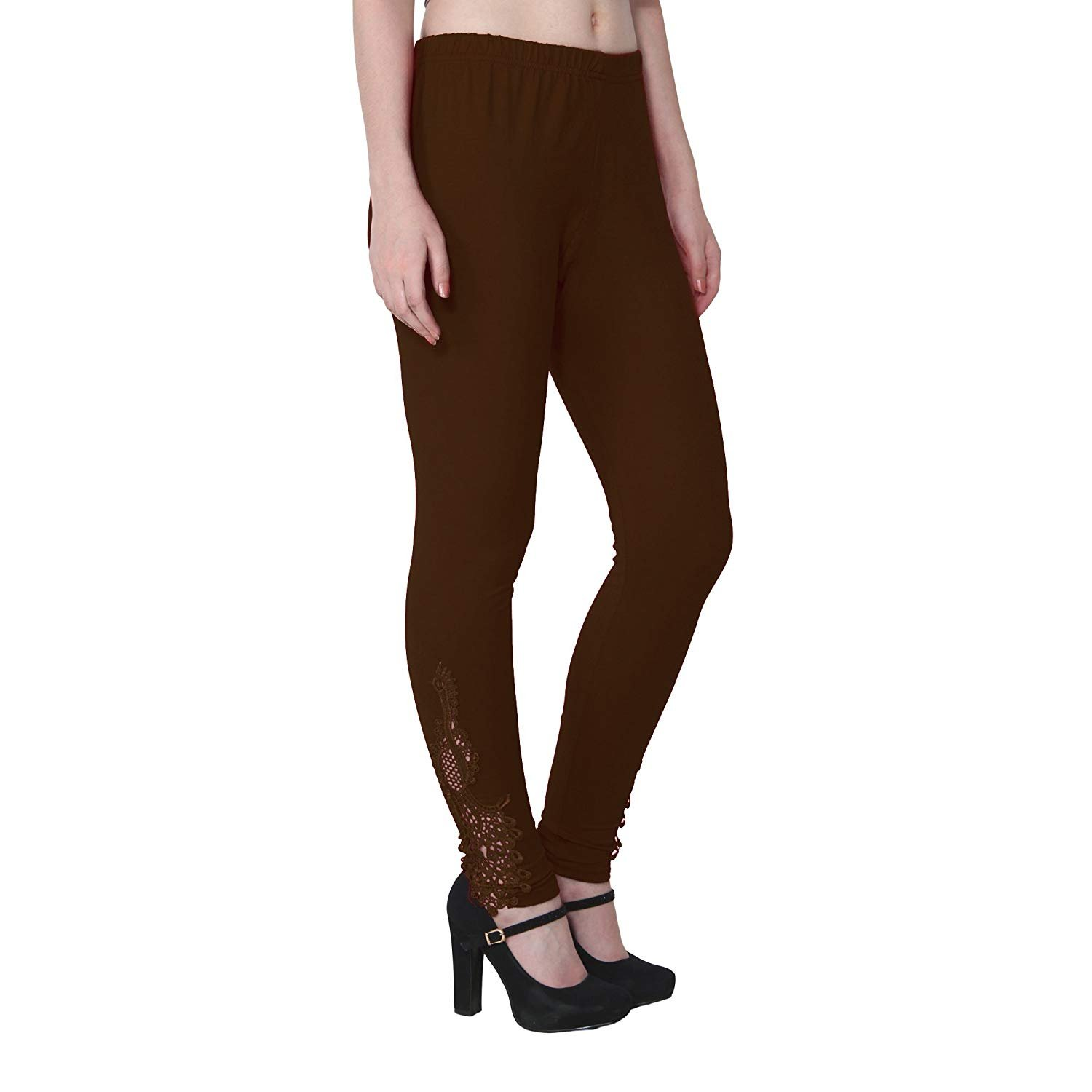 73ba71df675ac2 ALISHAH Ankle Length Leggings with Peacock Pach on Bottom, Plus 13 Colors:  Amazon.in: Clothing & Accessories