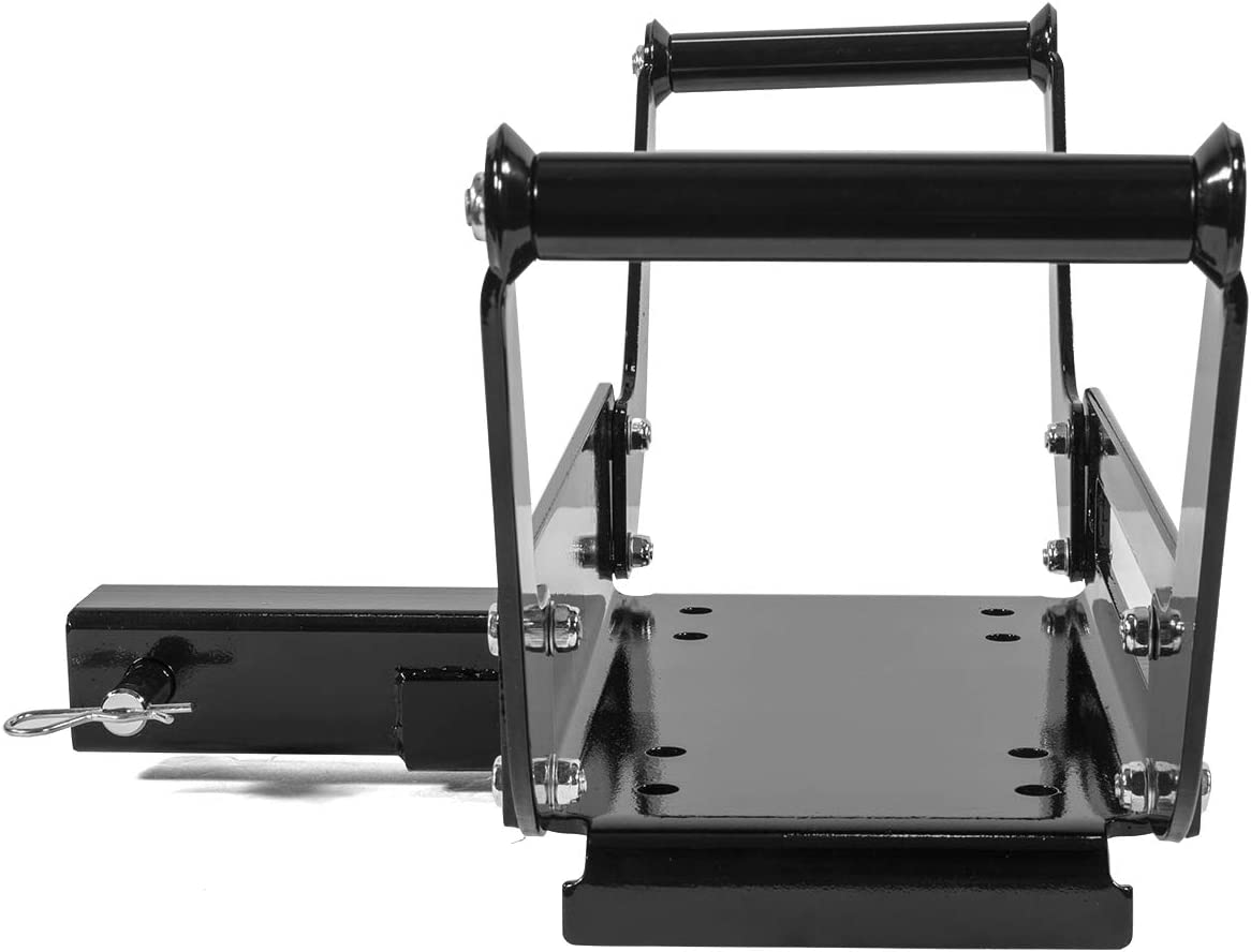 Stark Universal Portable Foldable Trailer ATV Hitch Winch Mount//Cradle w//Hitch Receiver 2 Winch Mount Recovery Winches 10 x 4-1//2