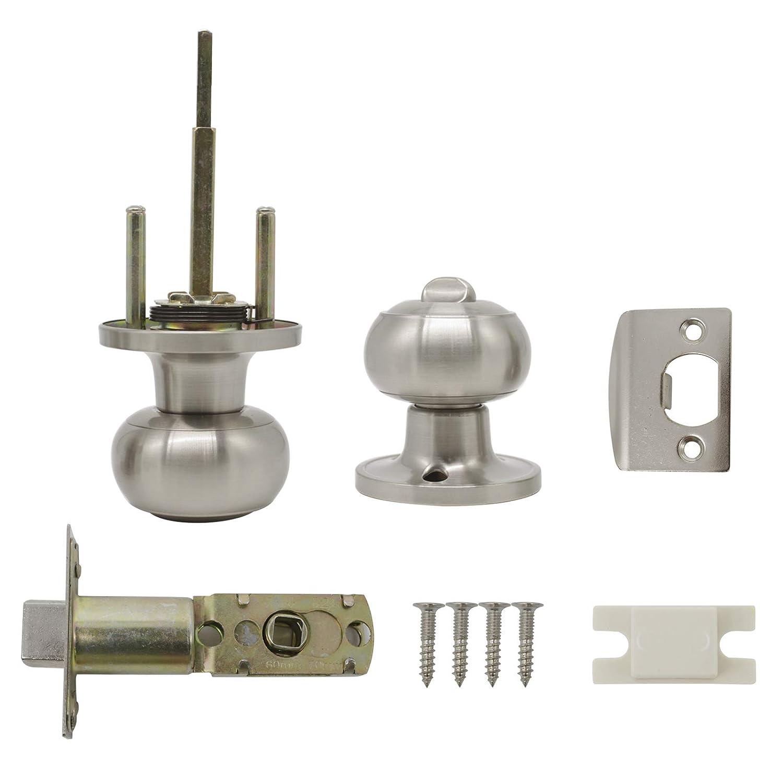 8 Pack Privacy Door Lock Lever Keyless Door Lockset Handleset ;Right//Left Handed Reversible;Satin Nickel Door Levers Hardware withour Key for Bathroom and Bedroom Door Lever 12061 Probrico