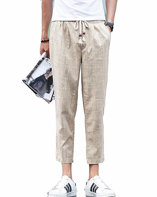 946ecbe17a0 Hombre Pantalón Lino para Baggy Casual Harem Pantalones Ropa Etnica Tamaño  Grande: Amazon.es: Ropa y accesorios