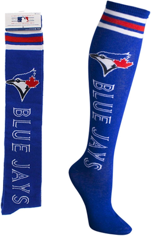 MLB Toronto Blue Jays Ladies Knee High Socks Size 9-11