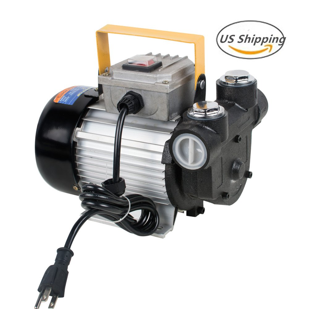 Lolicute 110V AC 60L/min 550W Oil Diesel Fuel Transfer Pump Self Priming
