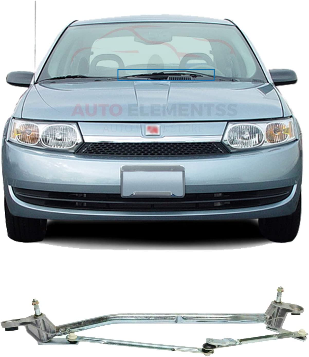 New Windshield Wiper System Transmission Linkage For 2003-2007 Saturn Ion Direct Replacement REPS360903