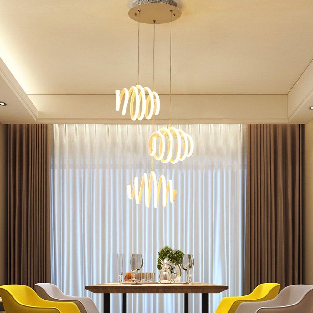 75W LED Lampe Pendelleuchte Modern Elegant Hängelampe Kreativ Runden ...