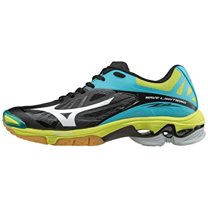 quality design cc82a aa98f Mizuno Wave Lightning Z2 Women s Volleyball Shoes - Black   Blue Atoll  (Women s ...
