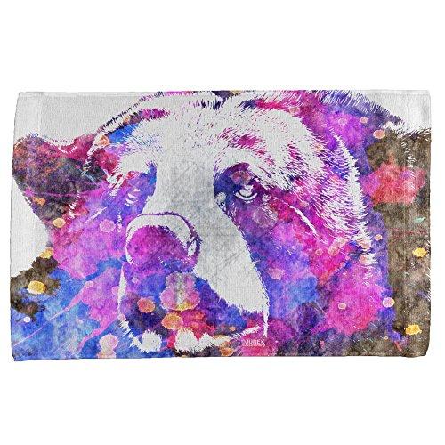 Spirit Bear Splatter All Over Hand Towel Multi Standard One Size]()
