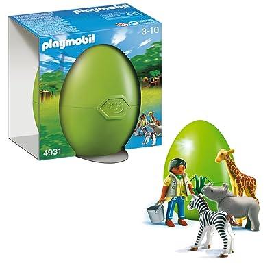 Playmobil 626580 - Huevo Animales Bebé Y Cuidador: Juguetes y juegos