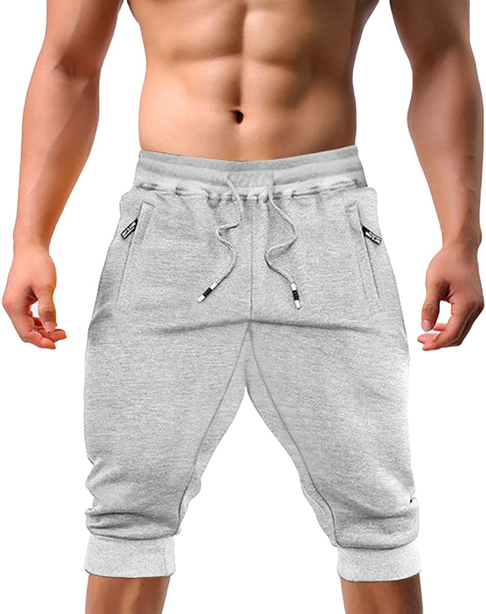 EKLENTSON Men's Jogger Pants High Elasticity Elastic Waist Gym Workout Running Sweatpants with Pockets