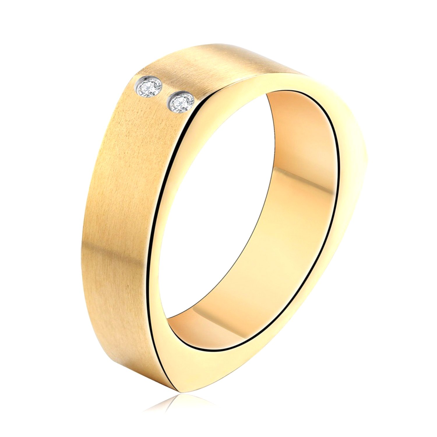 Slyq Jewelry Gold Silver Black 3 Color Women Stainless Steel rose gold engagement ring fashion ring sets