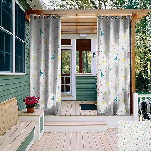 XXANS Cortina de Puerta corredera, composición artística, diseño Floral, para Puerta de Patio, Color Rosa y Blanco: Amazon.es: Jardín
