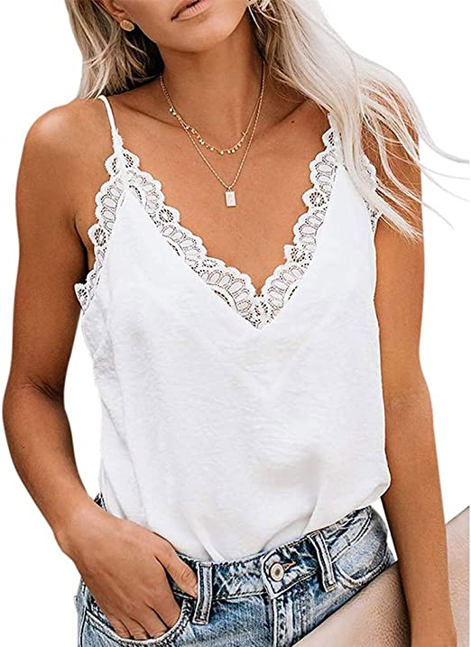 WOMEN CASUAL V NECK SLEEVELESS PRINT BUTTON CAMISOLE BLOUSE BOTTOMING TOP SMART
