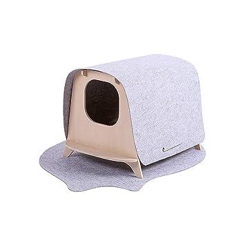 QNMM Casa de Madera para Gatos Casa de Campo para Mascotas Casa Simple y Elegante,