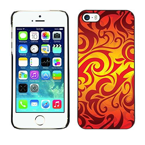 Premio Sottile Slim Cassa Custodia Case Cover Shell // V00002495 flammes seamless // Apple iPhone 5 5S 5G