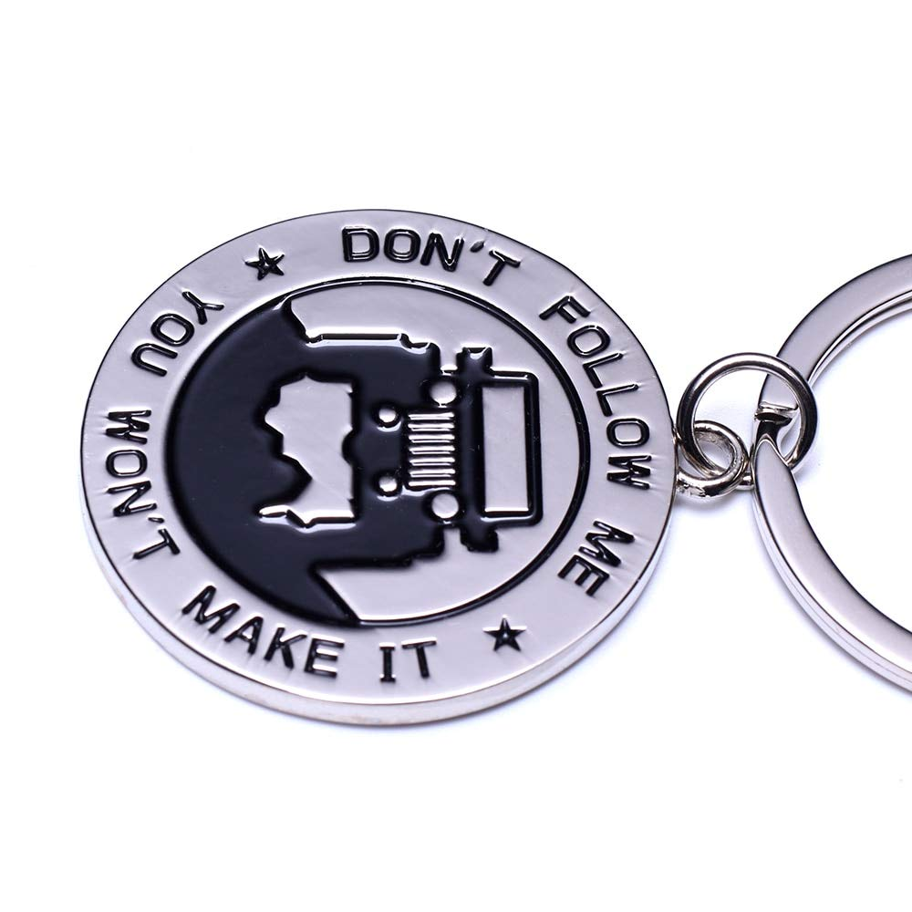 Wall of Dragon Fashion Key Chain for Jeep Enthusiasts -Key Rings for Jeep Don't Follow Me You Won't Make It Great Gift for Any Jeep Owner