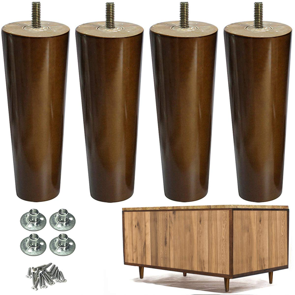 Furniture Legs Wood Sofa Legs Replacement Legs For Cabinet Vanity