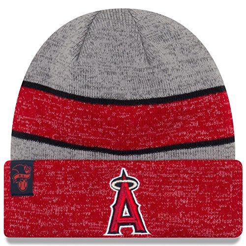 - New Era Knit Anaheim Angels Biggest Fan Redux Sport Knit Winter Stocking Beanie Pom Hat Cap MLB