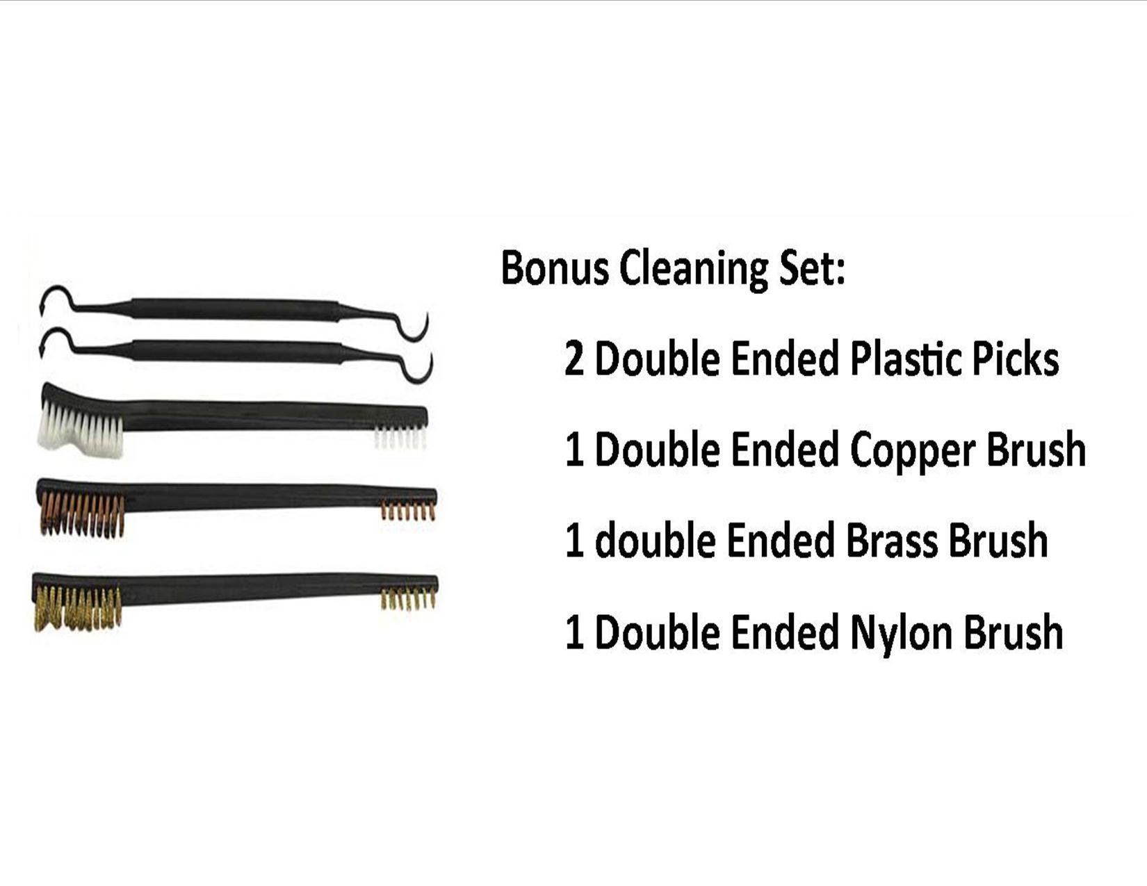 TekMat 11-Inch X 17-Inch Handgun Cleaning Mat Universal 1911 Bonus 5 oc Gun Cleaning Brush & Pick Set by EDOG (Image #2)