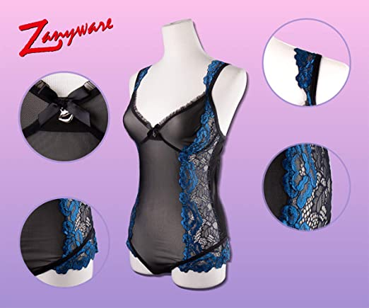c0201dbc9 Zanyware Womens lace Teddy Sexy Lingerie One Piece Bodysuit at Amazon  Women s Clothing store