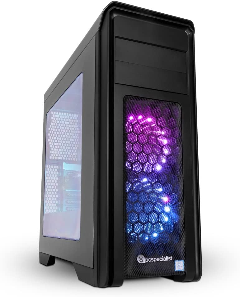 PC Specialist Omega Impact IV Gaming Desktop - (Black) (Intel Core i5-7500 Quad Core Processor, 8 GB DDR4 RAM, 1 TB HDD, 6 GB NVIDIA GeForce GTX 1060 Graphics Card, Windows 10)